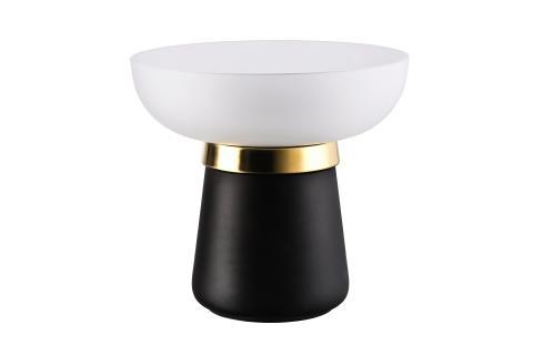 R_Collana_Black-New Gold_Vase 22 cm_satined