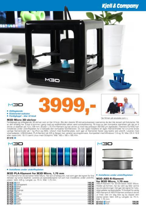 Katalogside: M3D Micro 3D-skriver