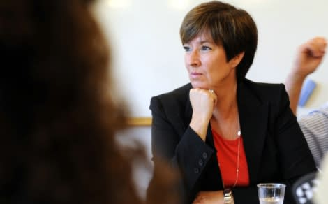 Mona Sahlin och Norges statsminister till Nordstan