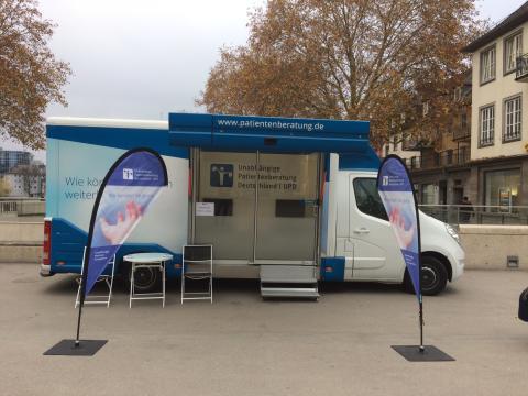 Beratungsmobil der Unabhängigen Patientenberatung kommt am 28. Februar nach Siegen.