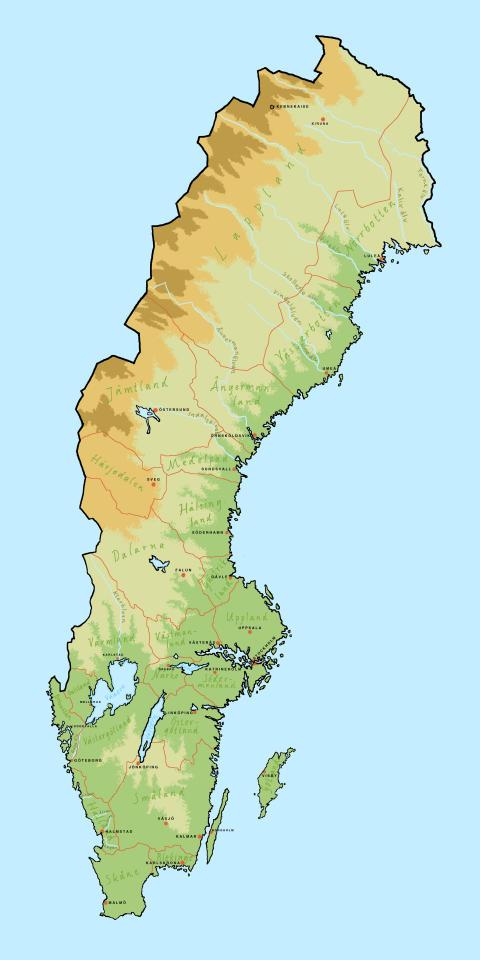 Akustisk Sverigekarta