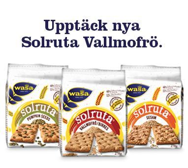 Nya Wasa Solruta Vallmofrö – ett smakrikt tillskott i Solruta familjen