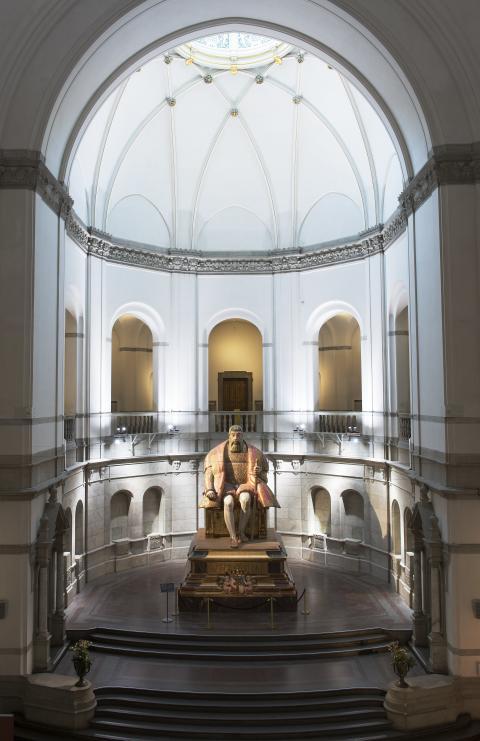 Gustav Vasa i Nordiska museets stora hall