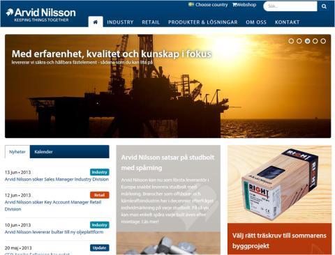 Arvid Nilsson lanserar ny hemsida!