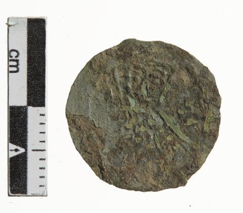 Mønt slået under kong Erik Lam fundet ved Højbakkegård på Lolland
