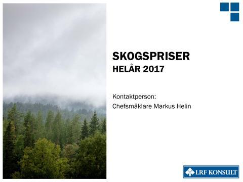 Skogspriser - helår 2017
