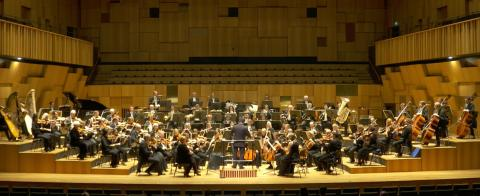 Streamad konsert med MSO 13 mars (skärmdump)