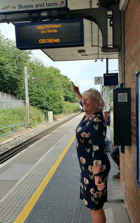 Special farewell for Stevenage grandmother who spent nearly 30 years working on railway