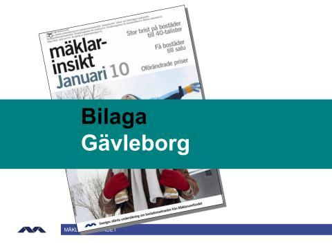 Mäklarsinsikt januari 2010: Gävleborg