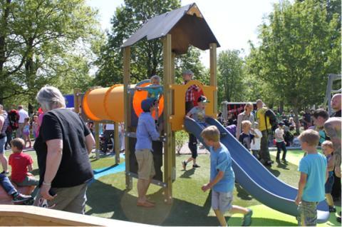 KOMPAN levererar lekplatsutrustning till Nolhaga lekplats i Alingsås!
