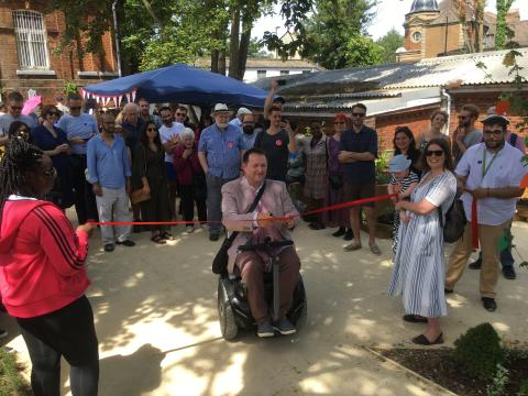 Celebrations mark official opening of Crofton Park Railway Garden