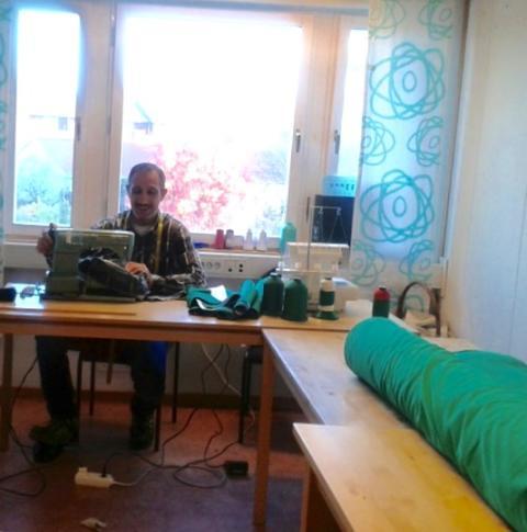 Yrkesworkshop blir showroom på Hermods Härnösand