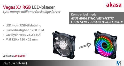 LED-blæser med millioner af forskellige farver!