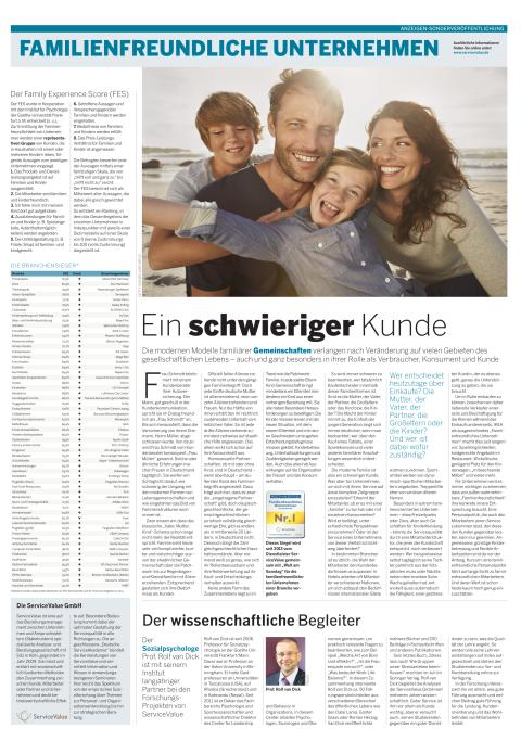 Familienfreundliche Unternehmen in WELT am SONNTAG (30.08.2015)