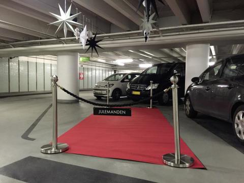 Julemanden får reserveret parkeringsplads