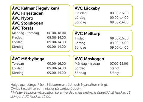 KSRR utökar öppettider på ÅVC vid årsskiftet