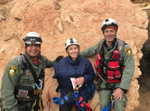 Image - ACR - Rita Wagner, 78, with the rescue personnel