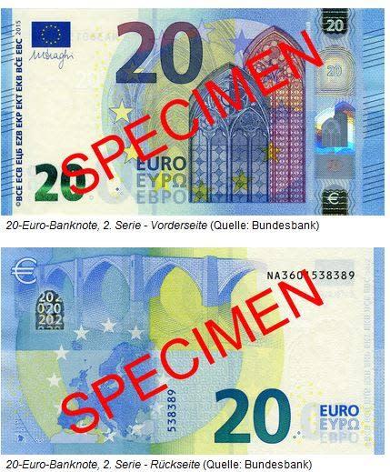 Der neue 20 Euro Schein geht ab heute in Umlauf!