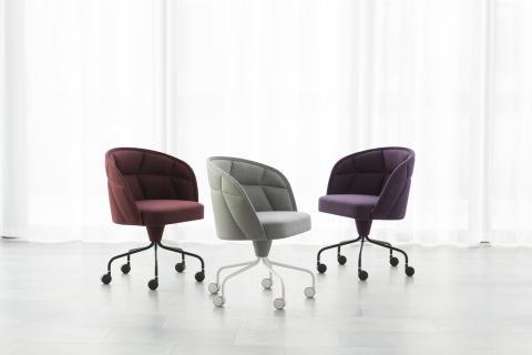Emily II, swivel chair, design Färg & Blanche, Gärsnäs