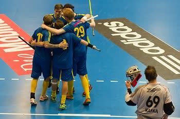Storseger för Sverige mot Tjeckien i Euro Floorball Tour