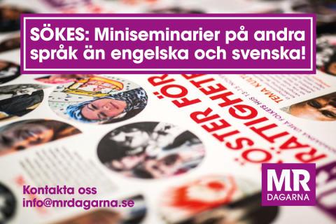 SÖKES: Miniseminarium på andra språk än svenska och engelska!