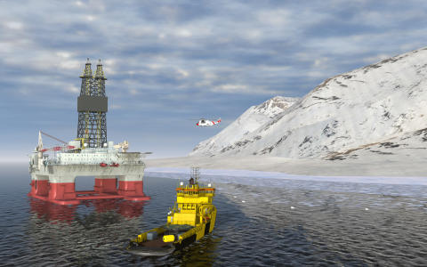 Hi-res image - Kongberg Digital - Simulated Training Scenario from Arctic