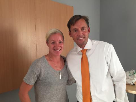 Victoria Sandell Svensson, Elitfotboll dam och Johan Forssell, Investor