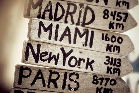 Hvilke byer vil vi reise til i 2017?
