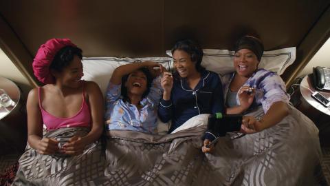 Regina Hall, Queen Latifah, Jada Pinkett Smith og Tiffany Haddish kan opleves i komediedramaet Girls Trip.