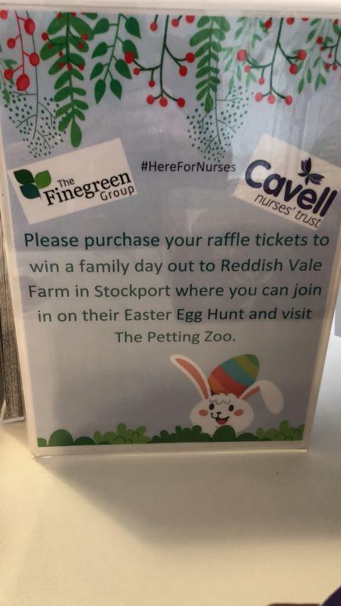 Enter now - Finegreen Easter Raffle supporting Cavell Nurses' Trust next Weds 21st March