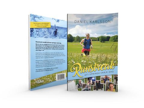 Runstreak – att springa varje dag, Daniel Karlsson (2019), Fram och baksida.
