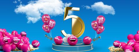 Vera&John gives away 50 prizes each week in birthday celebration!