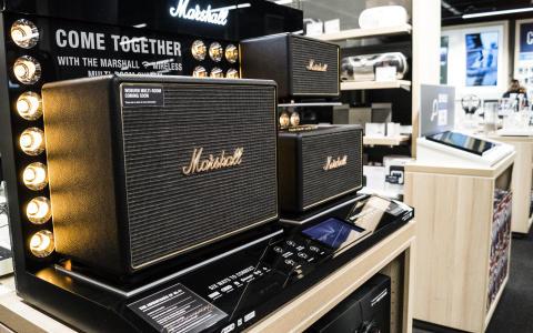 Marshall højttaler Elgiganten Nytorv i Aalborg