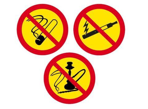rökning förbjuden bara skylten