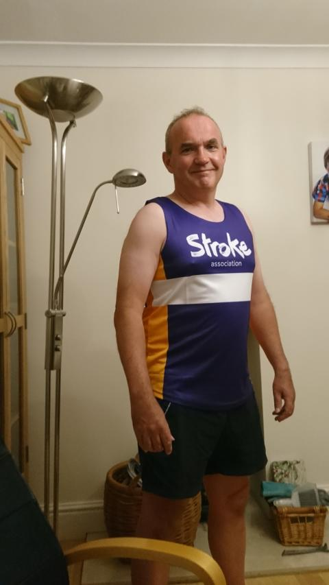 Tewkesbury runner goes the extra mile for the Stroke Association