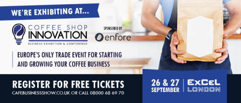 Tahola will be presenting and exhibiting at Coffee Shop Innovation next month