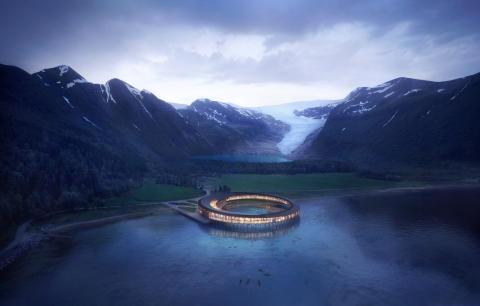 Världens miljövänligaste lyxhotell – vid Svartisen Nationalpark