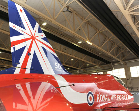 Red Arrows 50th Display Season Tailfin Unveiling