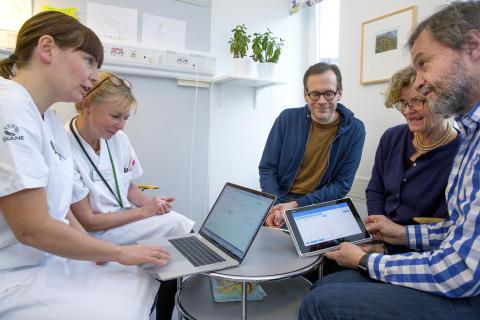 Opererade barn kan få eftervård hemma med stöd av e-platta