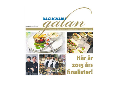 """3 finalister klara i kategorin """"Världens Matavdelning"""" på Dagligvarugalan 2013"""