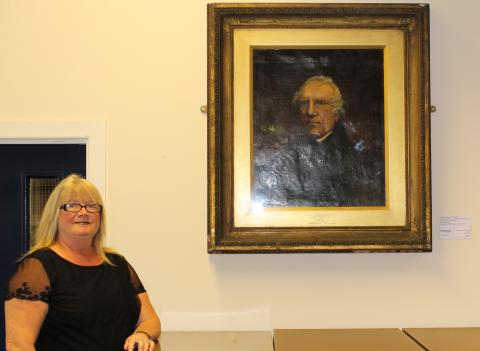 Painting of radical reformer returned to his birthplace.