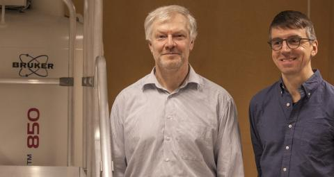 Jürgen Schleucher och Thomas Wieloch, Umeå universitet. Bilden är fri för publicering. Foto: Eva-Maria Diehl.