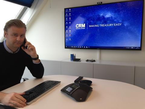 Erik Åkerlund, finanskonsult samt inköpsansvarig på CRM Treasury Systems.