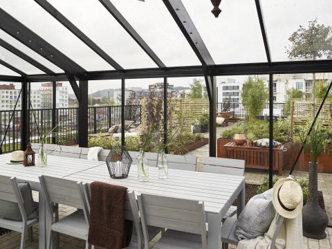 Göteborg har fått sin första gröna takterrass