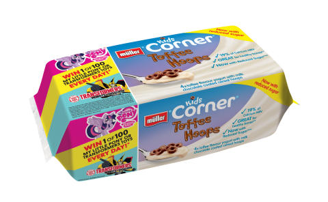 Müller Kids Corner Launches New Reduced Sugar Formulation  and Toy Promotion with Hasbro
