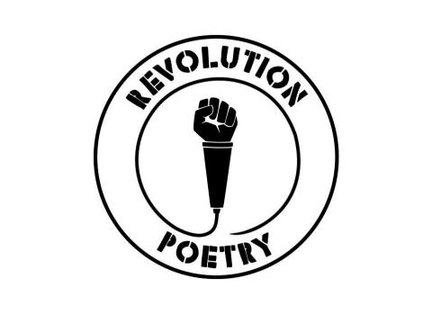 Revolution Poetry logga SVART web
