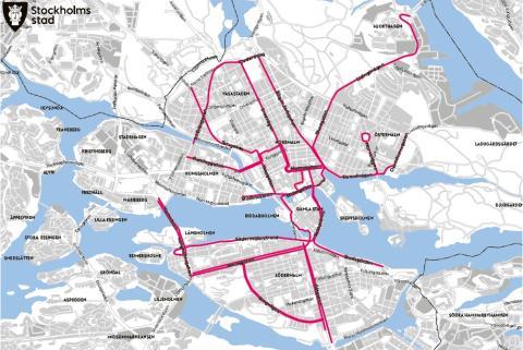 Cykelstråk innerstaden