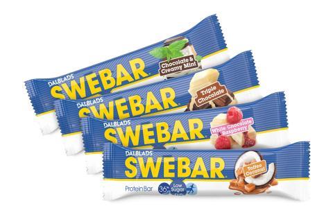 Nu lanseras Swebar Low Sugar i ytterligare 4 nya goda smaker!