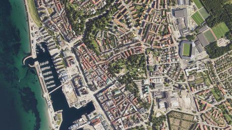 Under våren tar vi nya bilder av Helsingborg från ovan