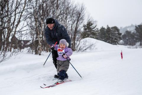 240 skiglade barn deltok på Hovden miniTour.